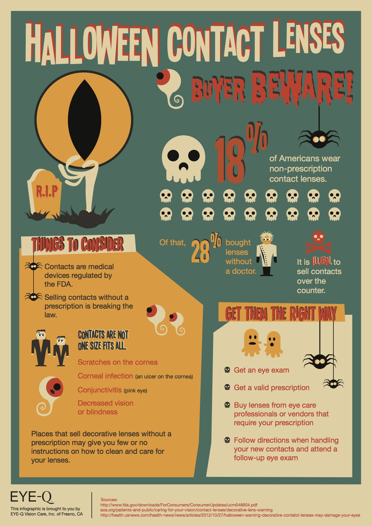 Halloween Contact Lenses Risks Eye Q Vision Care